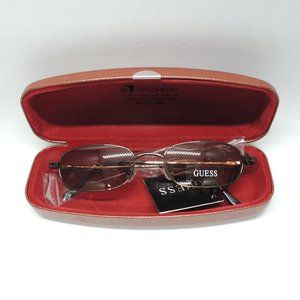 NEW GUESS Magneto Brown/Rose Mirrored Sunglasses